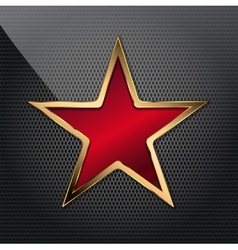 Copper red star vector