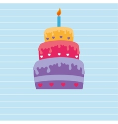 Sweet cakes design vector
