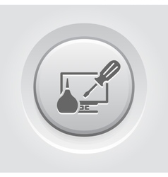 Pc repair icon vector