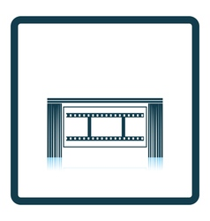 Cinema theater auditorium icon vector