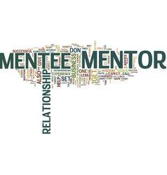 Are you mentor material text background word vector