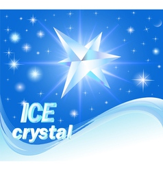 Background with shiny crystals of ice vector
