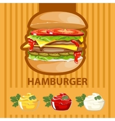 Big tasty burger vector image vector image