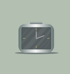 clock square time alarm icon watch vector image