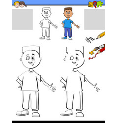 Drawing and coloring for kids vector