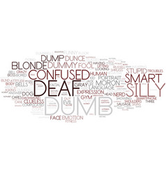 Dumb word cloud concept vector