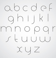 Elegant ultrathin monochrome smooth font with vector