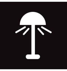 flat icon in black and white style lamp vector image vector image