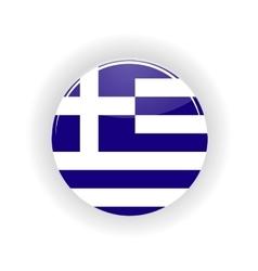 Greece icon circle vector image