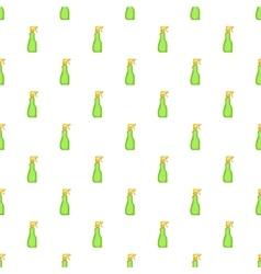Green household spray bottle pattern cartoon style vector