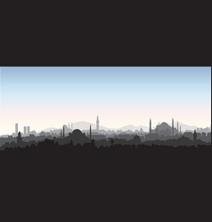 Istanbul city skyline travel turkey background vector