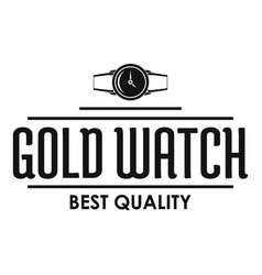 jewelry watch logo simple black style vector image