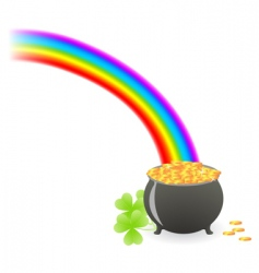 leprechaun treasure cauldron vector image vector image