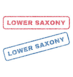 Lower saxony textile stamps vector