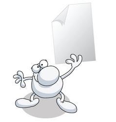 man paper blank vector image vector image