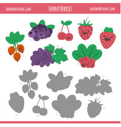 matching game with berries for preschool children vector image