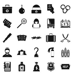 Misconduct icons set simple style vector