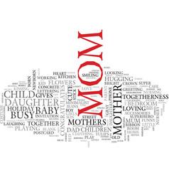 Mom word cloud concept vector