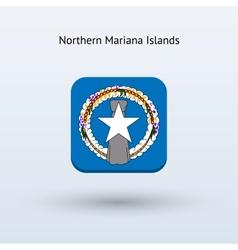 Northern mariana islands flag icon vector