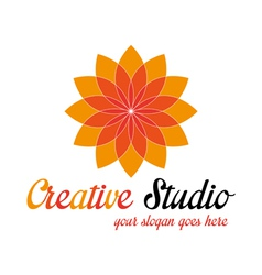 Orange media logo template vector
