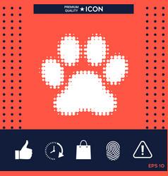 paw - halftone logo vector image vector image