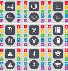 Picture Smartphone Cigarette File Scissors vector image vector image