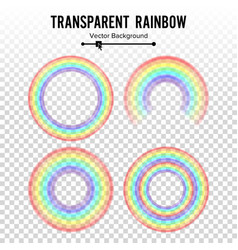 rainbow circle element set color spectrum vector image vector image