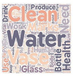 Reasons Why We Need To Clean Water text background vector image vector image