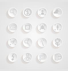 Shadows button camera icons set vector