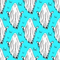 Sketch ghost in vintage style vector image