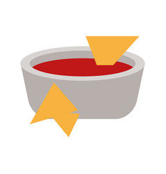 soup plate tomato flat vector image