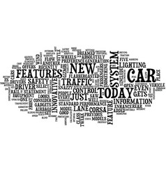 the latest and greatest car features text vector image vector image