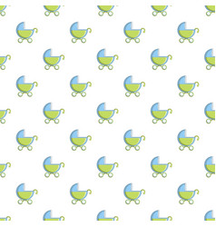 Toy baby carriage pattern vector