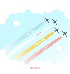 Travel Plane Country Design Tourism Europe Culture vector image
