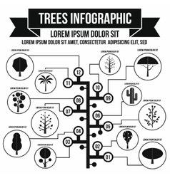 Tree infographic simple style vector