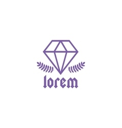 Vintage old style diamond logo icon templateyle vector