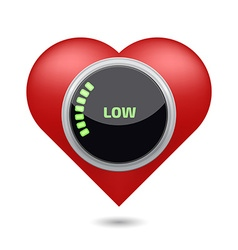 Low blood pressure digital concept vector image
