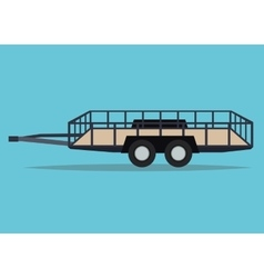 Trailer vehicle and transportation design vector