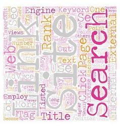 Crucial factors in seo text background wordcloud vector