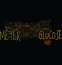 Glucose meter take a minute to shop text vector