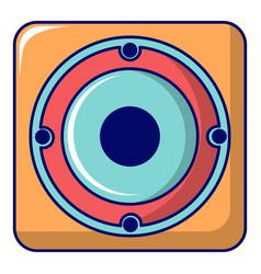 speaker icon cartoon style vector image