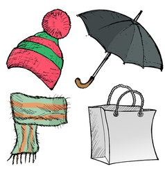 Objects of clothes vector