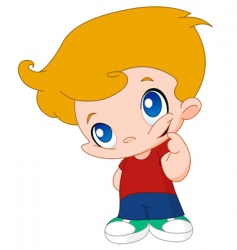 little boy vector image