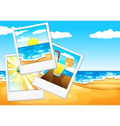 Photos at the beach vector