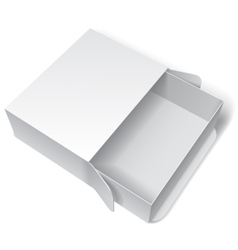 Blank white package box vector