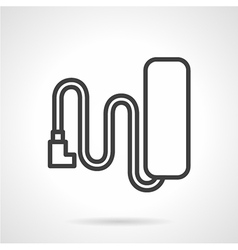 Battery line icon vector
