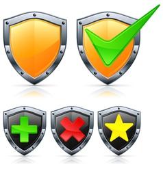 shield security vector image