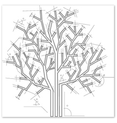 Architectural style tree vector
