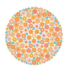 Circle of flower vector