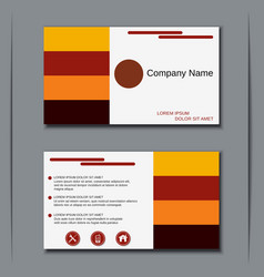 Modern visiting card design vector